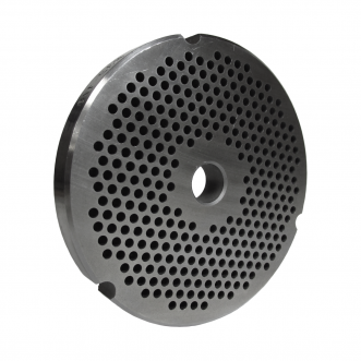 """Grinder plate for #32 Grinders, Hobart and Biro, with 1/8"""" holes great for Hamburger Product"""