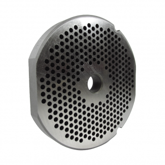 """Grinder plate with 2 flat edges for #32 Grinders, Butcher Boy, with 1/8"""" holes great for Hamburger Product"""