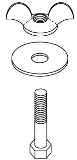 KNOCK-OUT CUP BOLT ASSY