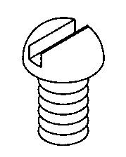 COVER SCREW FOR HS253 (2 REQUIRED) 10-24 x 1/2 PHILLIPS TRUSS HEAD 18-8
