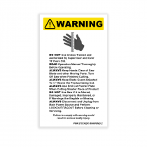 """""""DANGER EXPOSED BLADE"""" DECAL"""