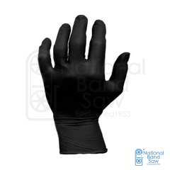 HANDARMOR BLACK NITRILE GLOVES 5MM