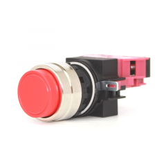 SWITCH ASSY, NORMALY CLOSED, EXTENDED BUTTON - RED