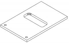 """3/8"""" ADAPTER PLATE & SCREW FOR HOLLYMATIC PATTY MACHINES"""