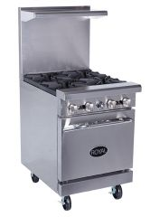 "ROYAL RR-4 24"" GAS RANGE 30,000 BTU BURNER"